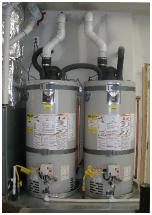 2-50 gallon water heaters